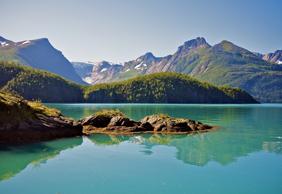 风景秀丽壮阔的挪威峡湾风景