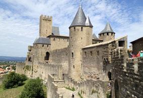 法国卡尔卡松建筑风景